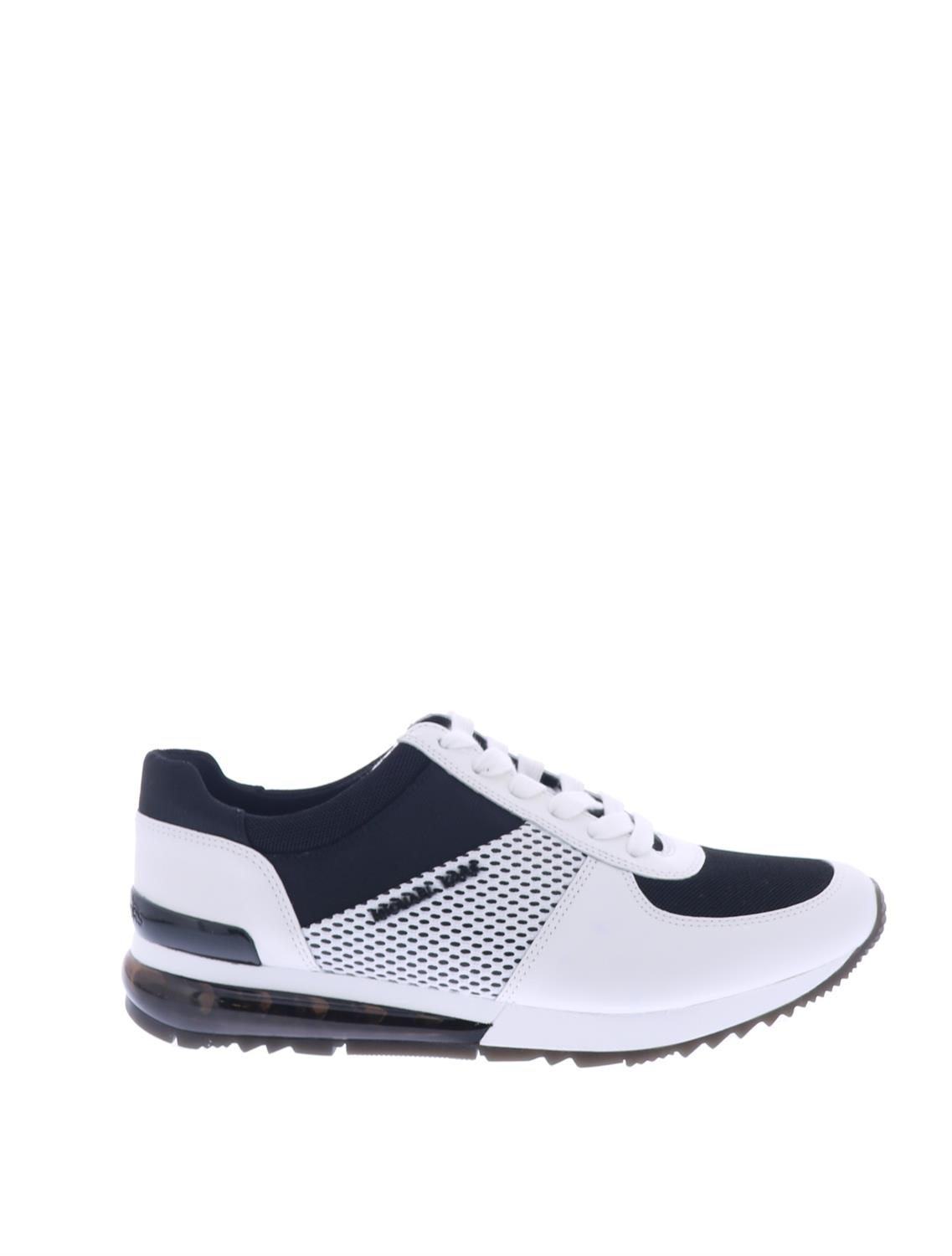 053ce4433ac < Vorige pagina | Home / Sneakers / Michael Kors Allie Trainer Ext Black Optic  White