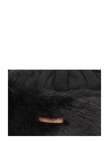 Barts Fur Cable Bandhat Black