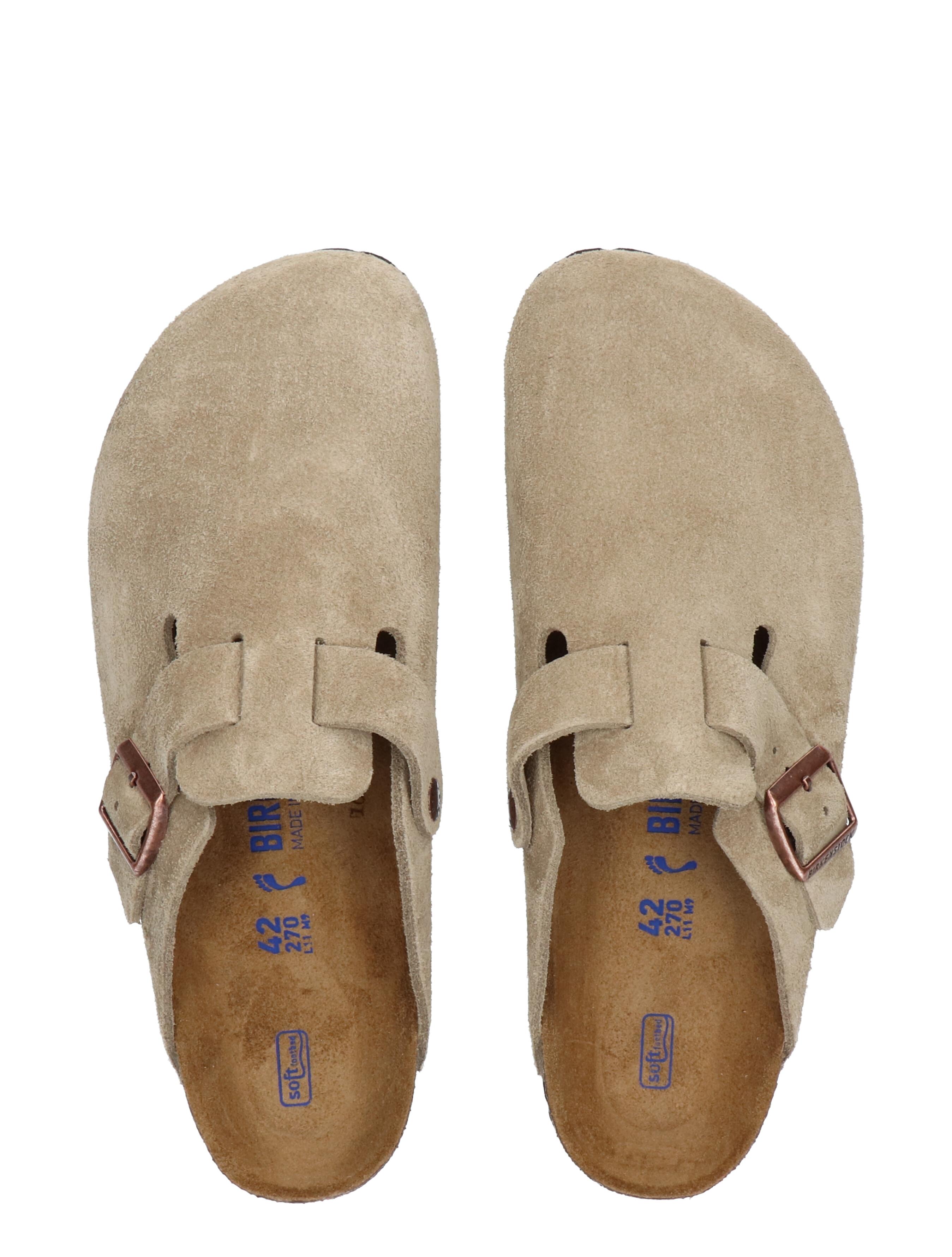 Birkenstock Boston Taupe Smal Slippers