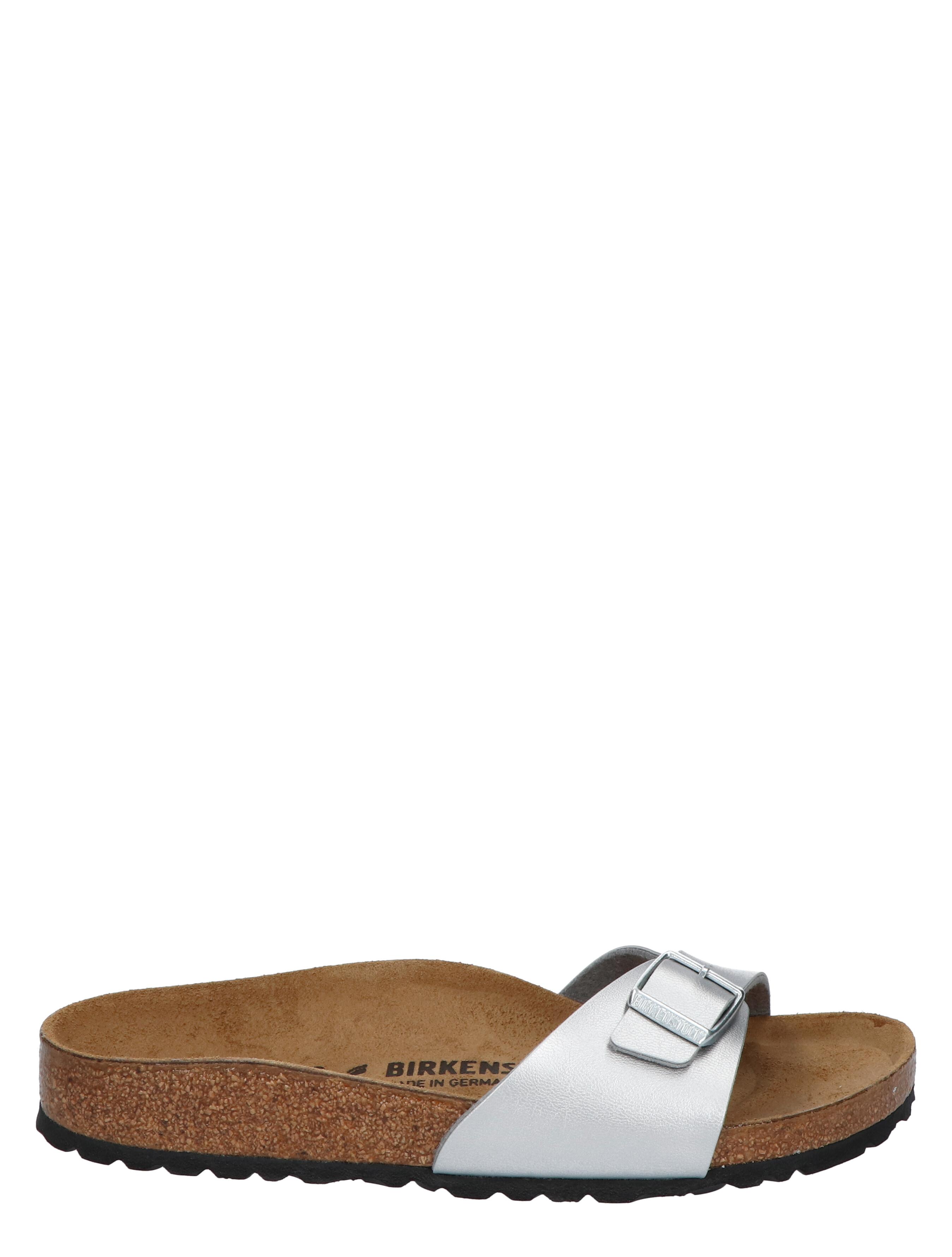 Birkenstock Madrid Silver Mat Smal Slippers