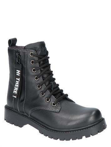 Braqeez Belle Boot Black Leather