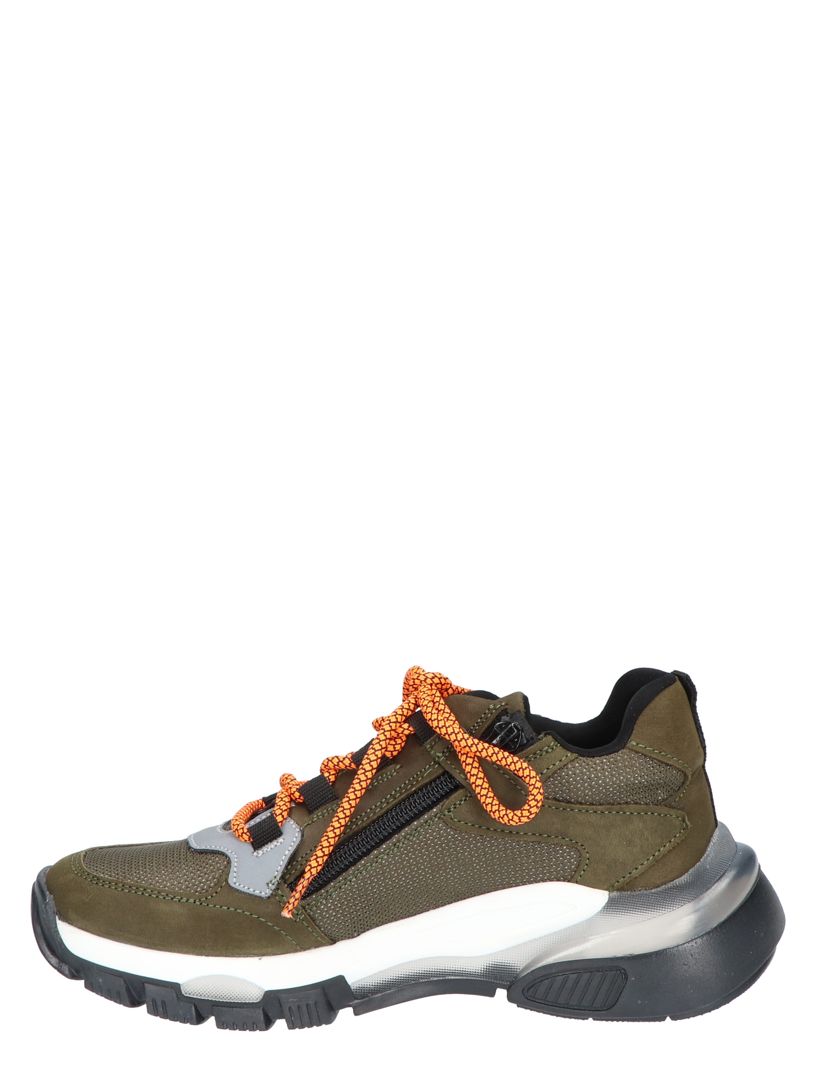 Braqeez Gio Genna Army Green Sneakers hoge-sneakers