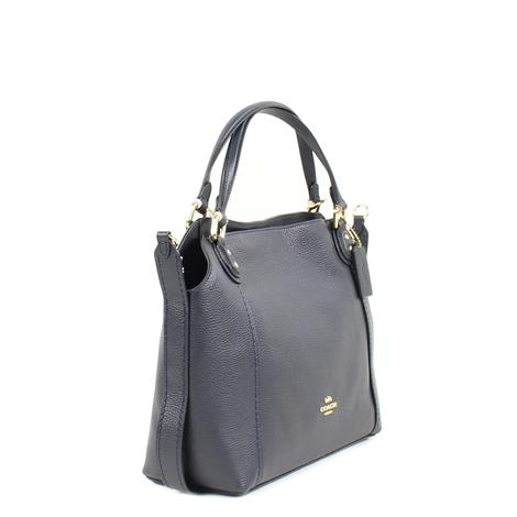 Coach Edie Shoulder Bag 28 Navy