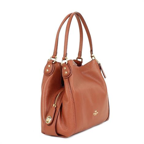 Coach Edie Shoulder Bag 31 Saddle