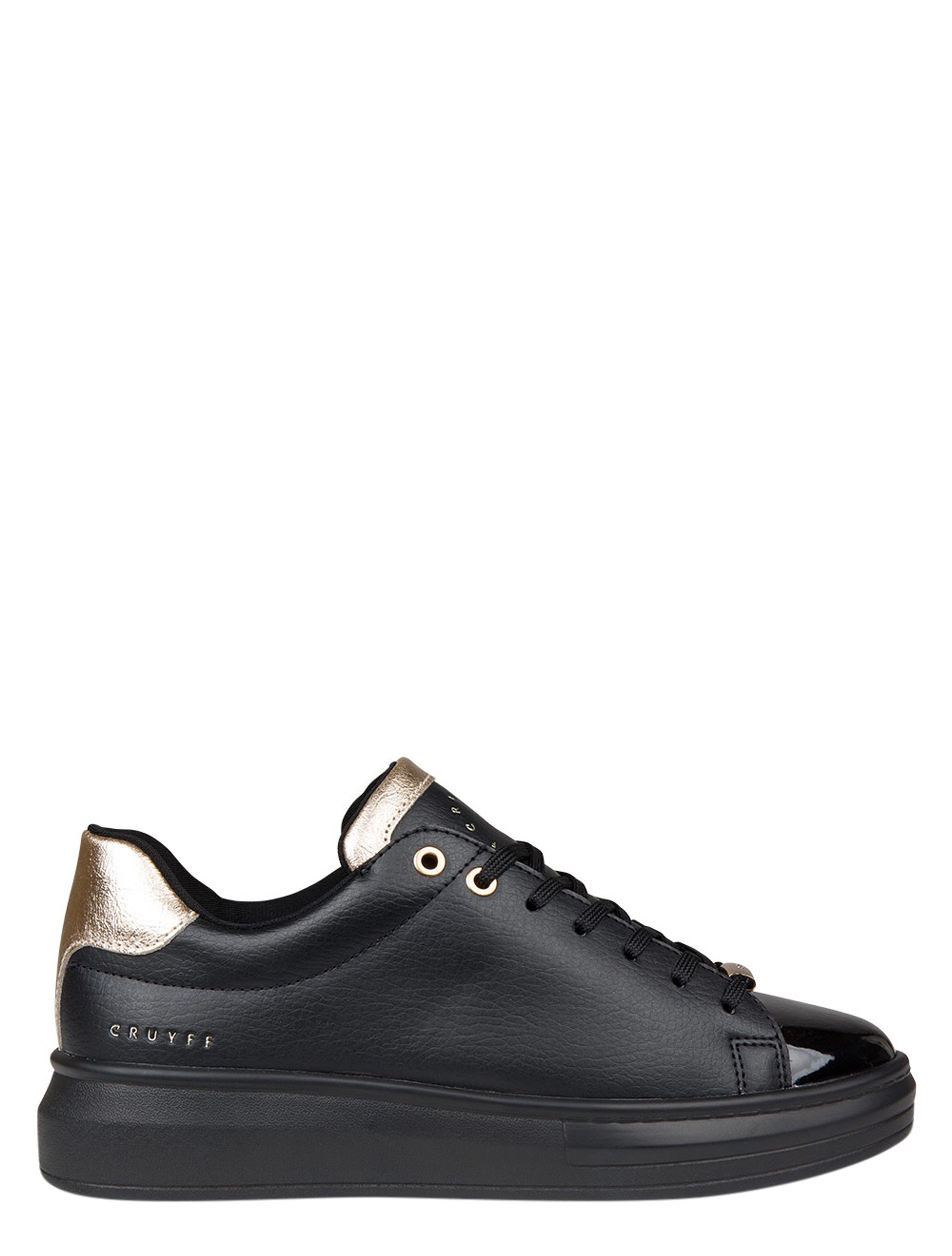 Cruyff Pace Black Gold Platform sneakers