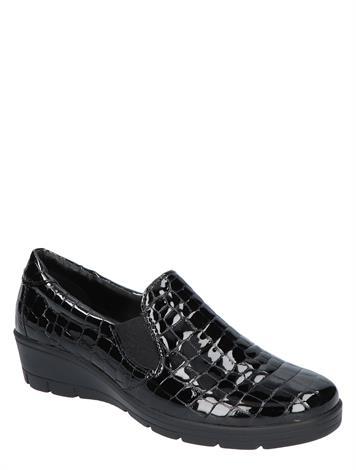 Cypres Comfort Loes Black Croco G+ Wijdte