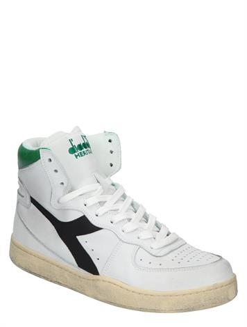 Diadora Mi Basket Used White Jellybean Black