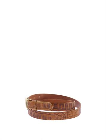 Elvy Double Ring Cognac Croco