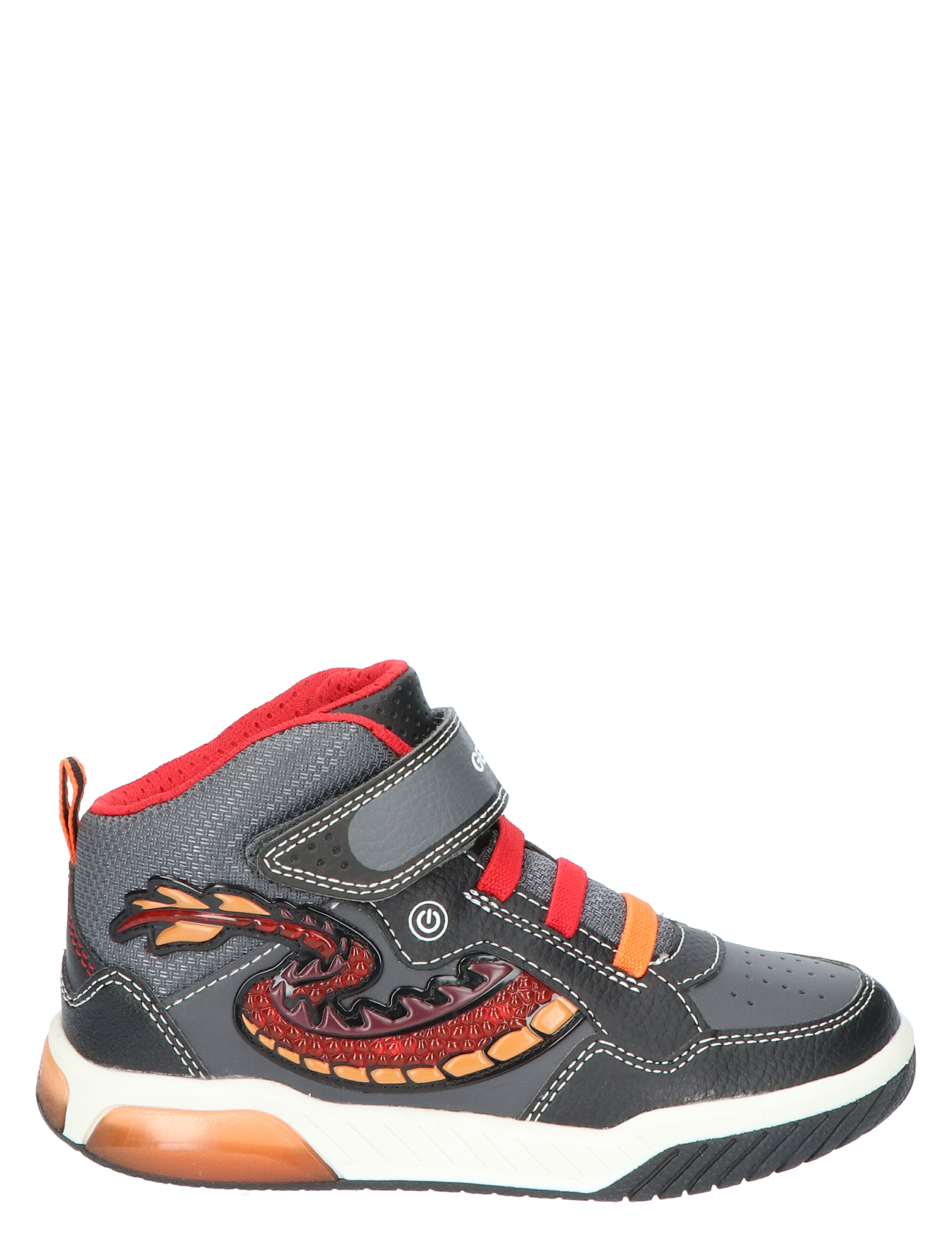 Geox J949CE Black Red Veter boots