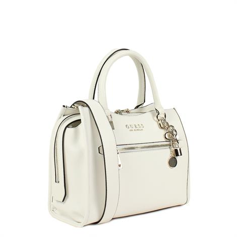 Guess Lias Girlfriend Satchel White