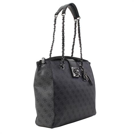 Guess Logo City Girlfriend Carryall Coal