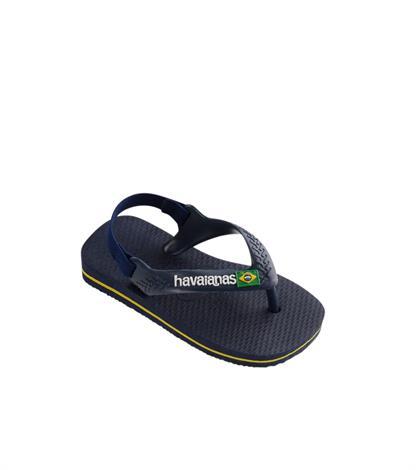 Havaianas Baby Brasil Logo 4140577 3587 Navy Blue/Citrus