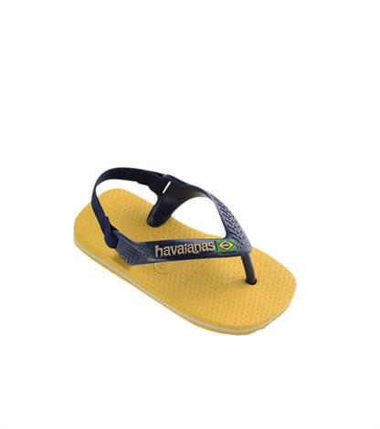 Havaianas Baby Brasil Logo Gold Yellow