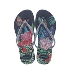 Havaianas Slim Tropical Black Graphite