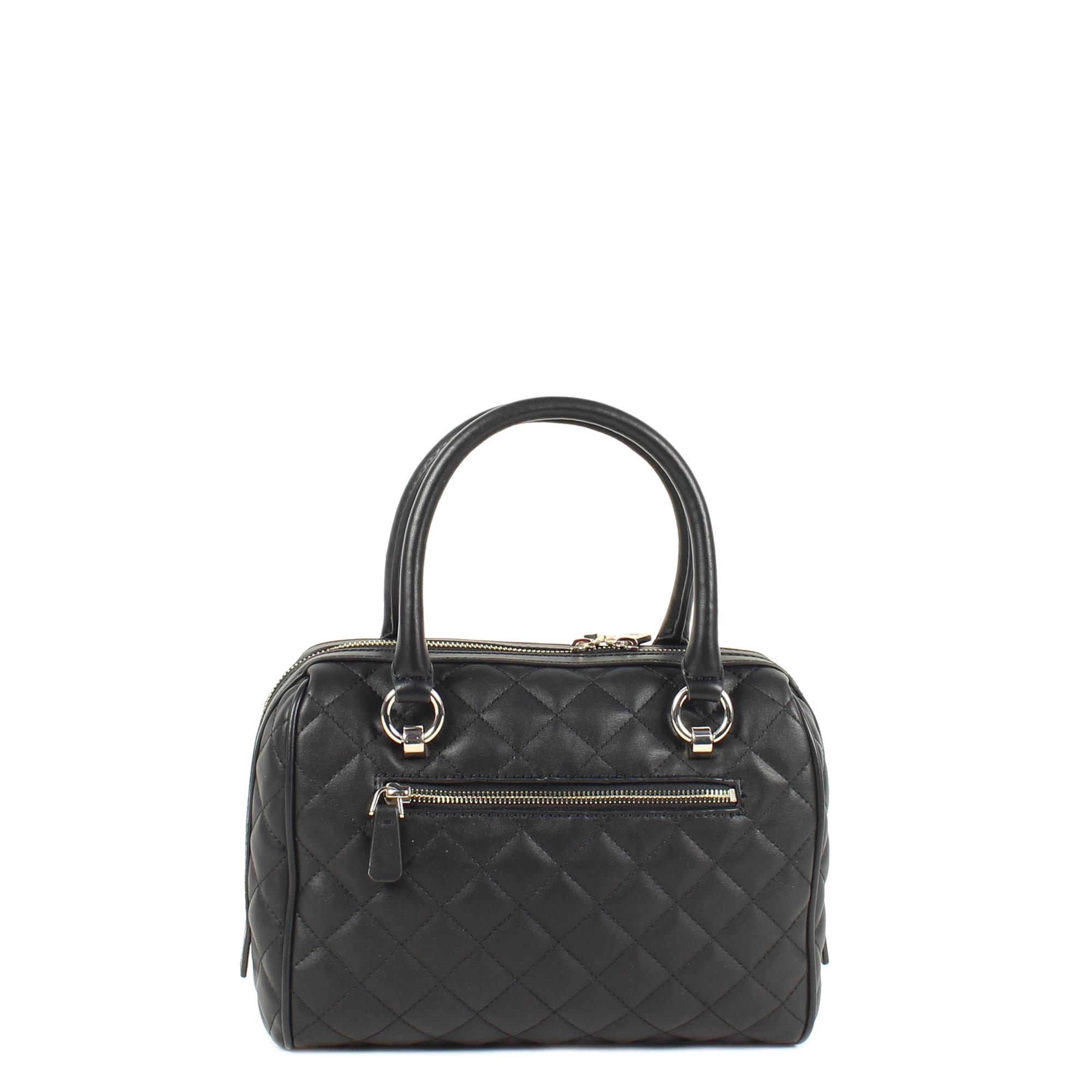 GuessMelise Box Satchel Black