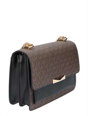 Michael Kors Jade Large Gusted Shoulder Bag Brown Black