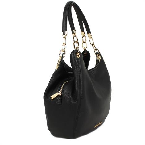 Michael Kors Lillie Large Leather Tote Black
