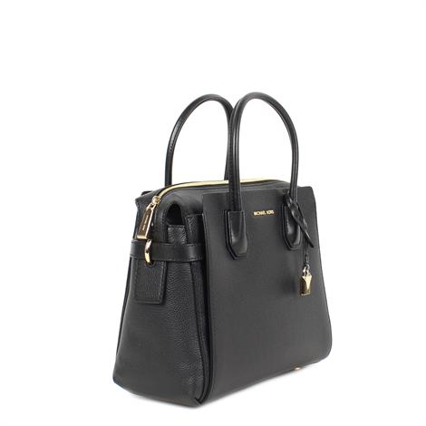 ef626578909 Michael Kors Mercer Medium Satchel Black ...