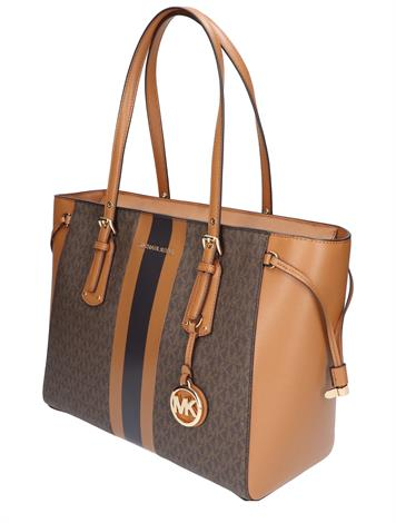 Michael Kors Voyager Medium Tote Bag Brown Acorn