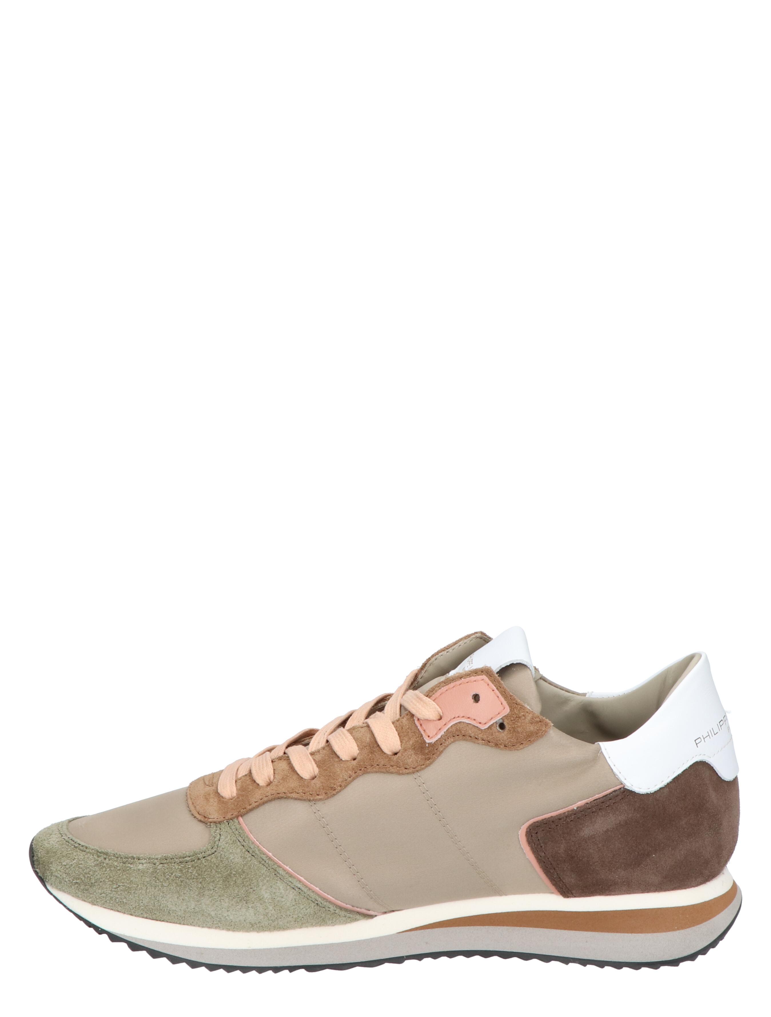 Philippe Model TRPX Low Women Beige Vert Sneakers