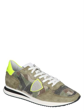 Philippe Model TZLU TRPX Men Camouflage Neon Vert
