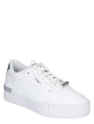 Puma Cali Sport Metallic White Silver