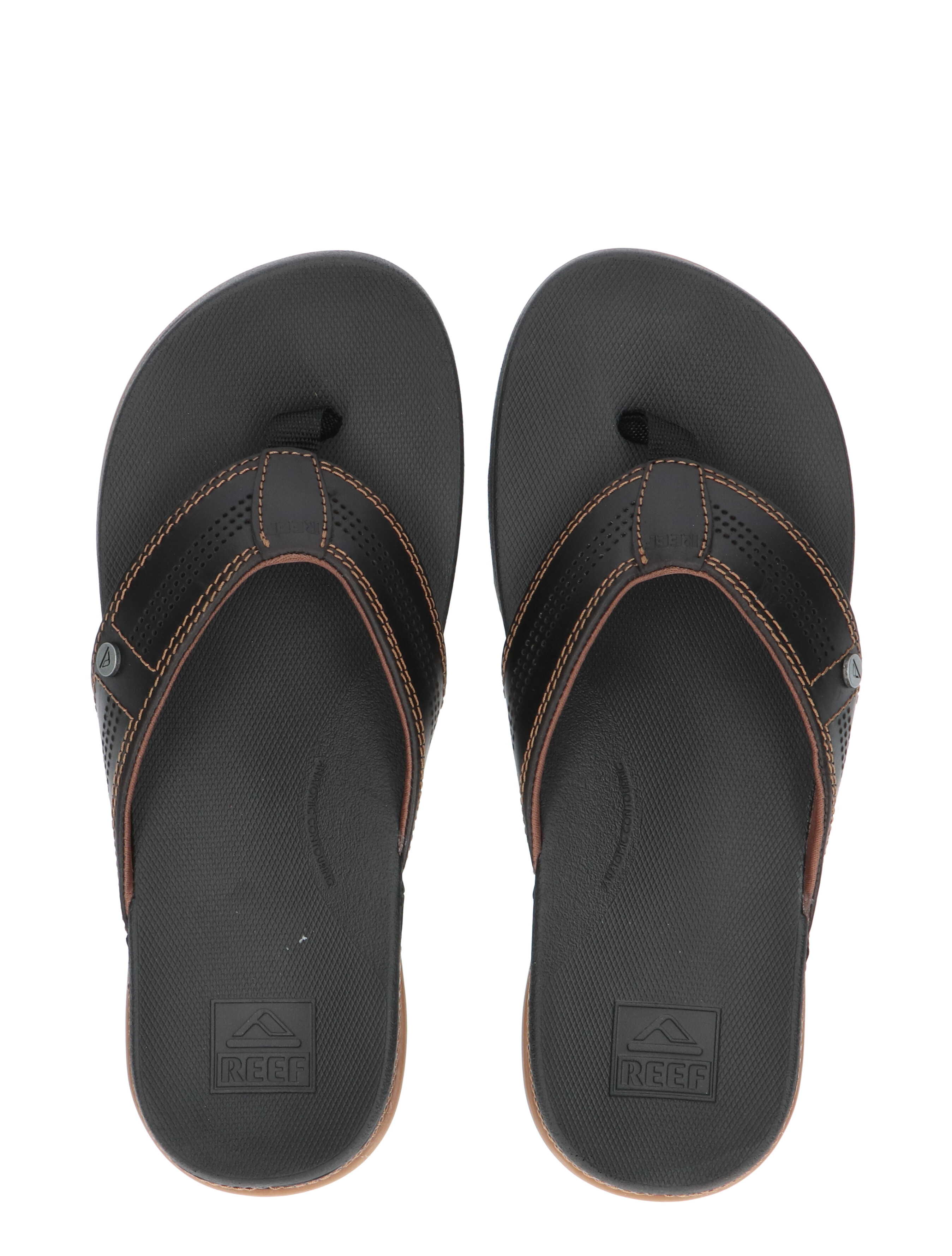 Reef Cushion Bounce Black Slippers