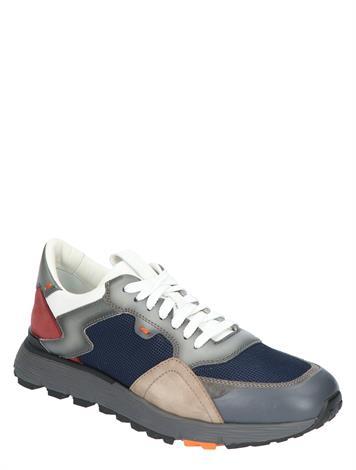 Santoni Leather Sneaker Multi Blue