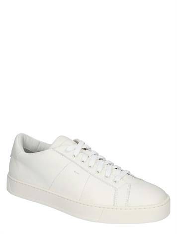 Santoni Leather Sneakers Off White