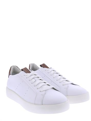 Santoni Leather Sneakers White G+ Wijdte