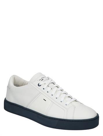 Santoni Leather Sneakers White