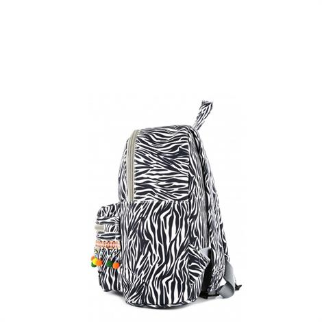 Shoesme Bag9A032 B Zebra Zwart Wit