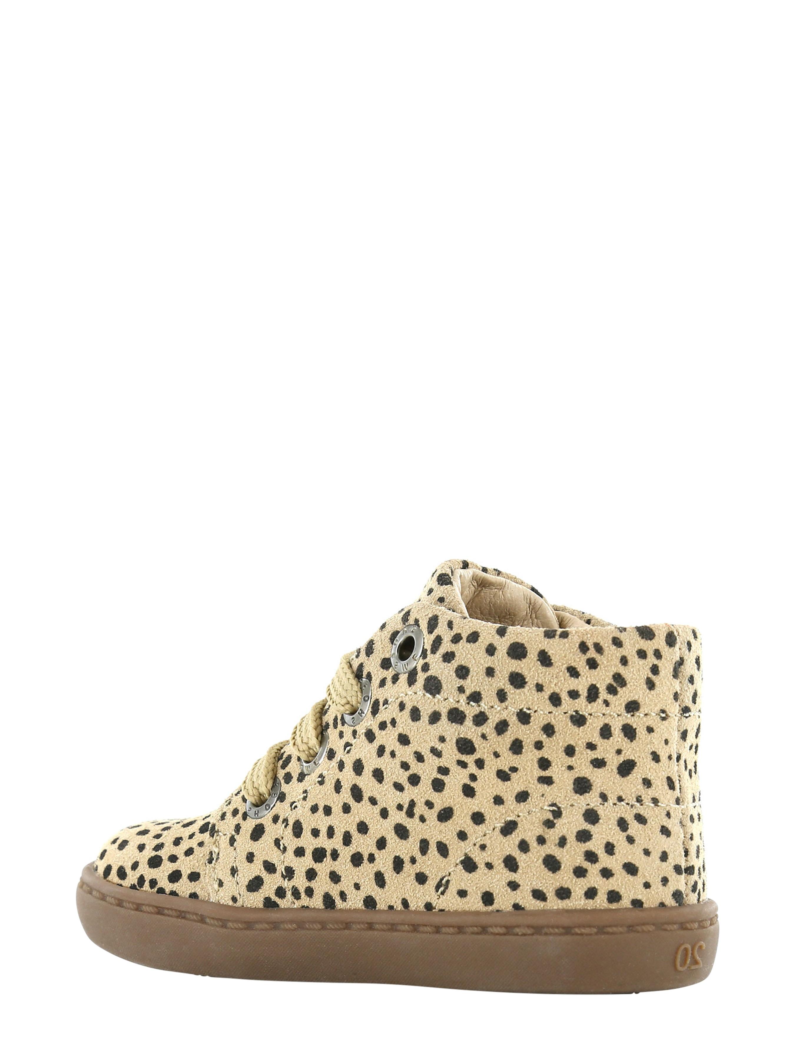 Shoesme FL21W001-C Beige Black Dots Baby-schoenen