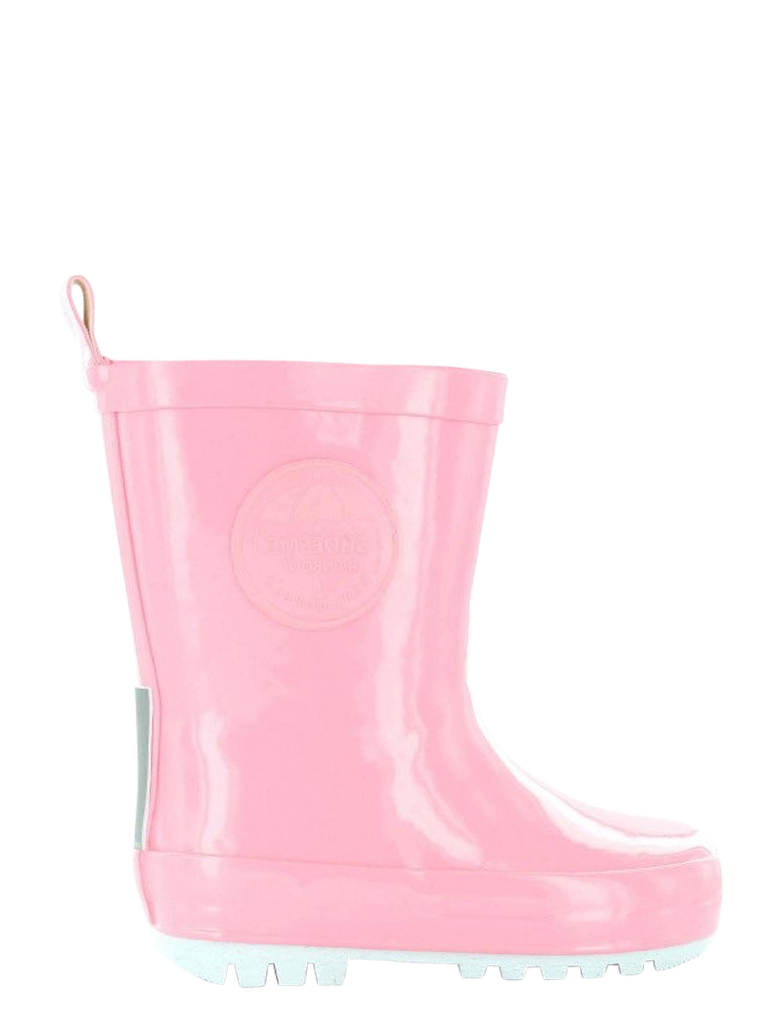 Shoesme RB7A092-D Rosa + Fleece Sock Regenlaarzen