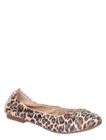 Si Kaylee Beige Leopard Suede