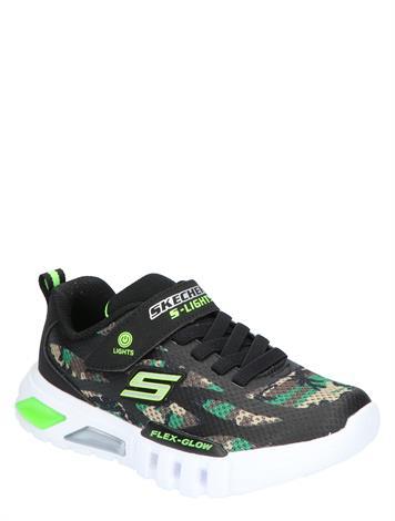 Skechers Flex Glow Camo Black Green