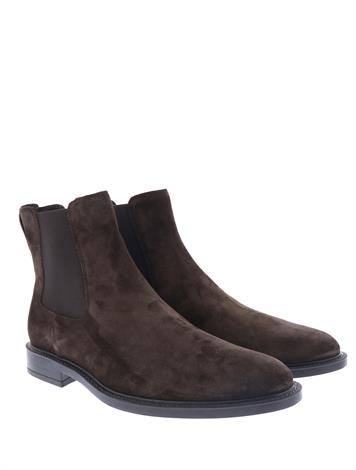 Tod's Chesea Boots in Suede Brown