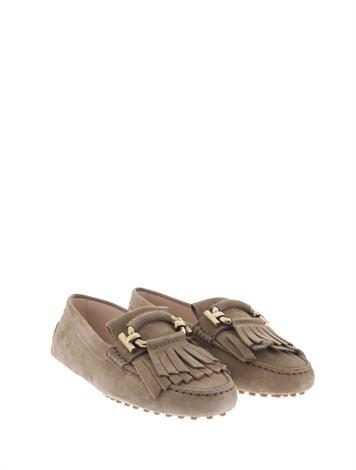 Tod's City Gommino Driving Shoes Beige