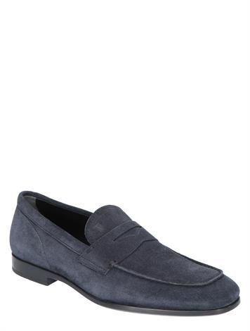 Tod's Loafers in Suede Blue