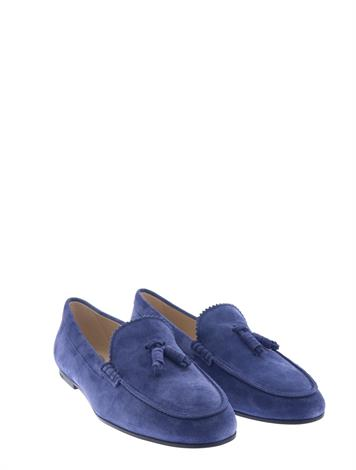 Tod's Loafers Suede Blue