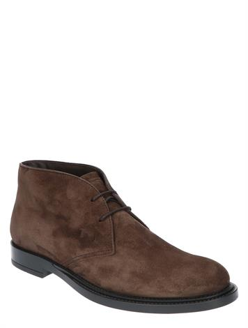 Tod's Short Ankle Boot in Suede Brown