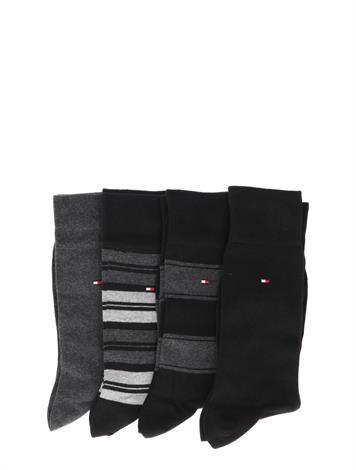 Tommy Hilfiger 4P Stripe Tin Gift Black