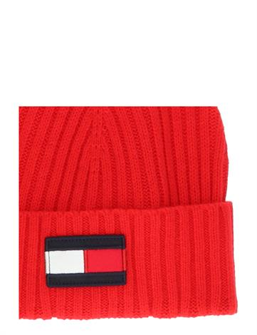 Tommy Hilfiger Big Flag Beanie Deep Crimson