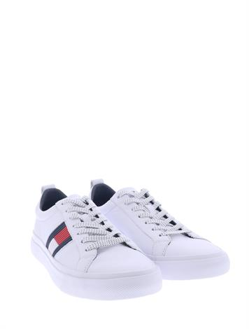 Tommy Hilfiger Flag Detail Leather White