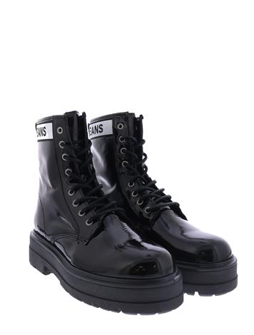 Tommy Hilfiger Patent Leather Boot Black