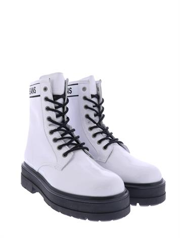 Tommy Hilfiger Patent Leather Boot White