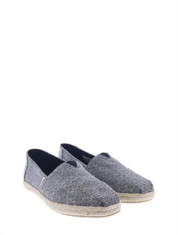 Toms Alpargata Black Tiny Chambray