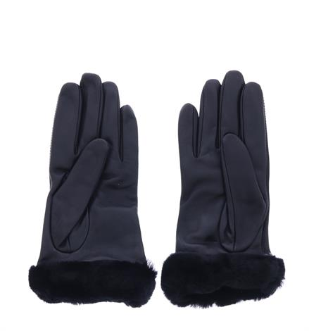 UGG Classic Leather Logo Glove Black