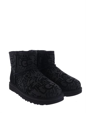 UGG Classic Mini II Sparkle Graffiti Black