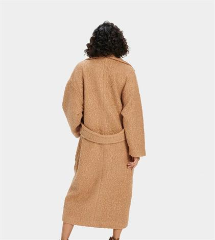 UGG Hattie Long Oversized Coat Camel